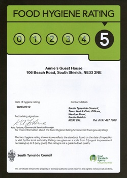 Hotel Near Newcastle With Free Parking Food Hygiene Rating 5