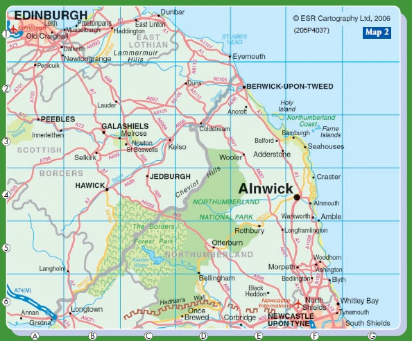 Alnwick Location Map