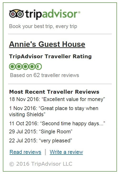 South Shields Bed & Breakfast Trip Advisor Reviews