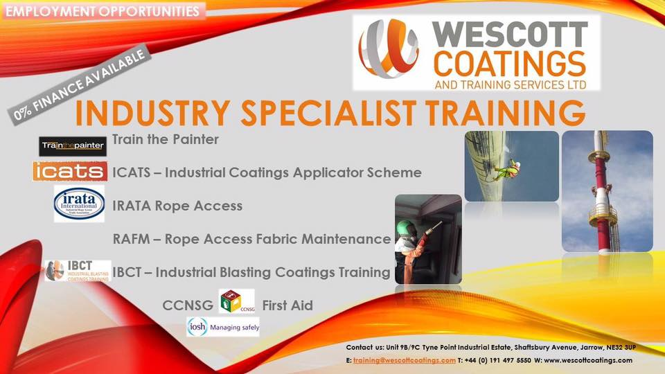 Wescott Coatings And Training Services Jarrow NE32 3UP Industry Specialist Training
